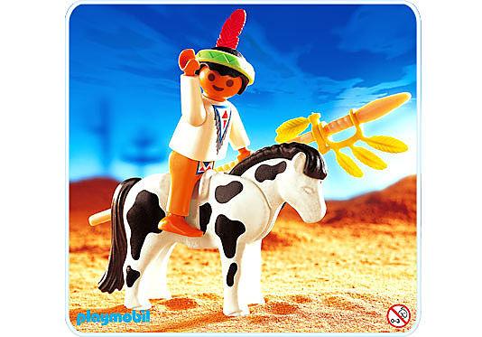 4629-A Indianerjunge mit Pony detail image 1