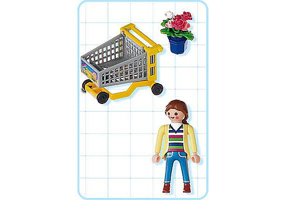 4638-A Cliente / chariot / fleurs detail image 2