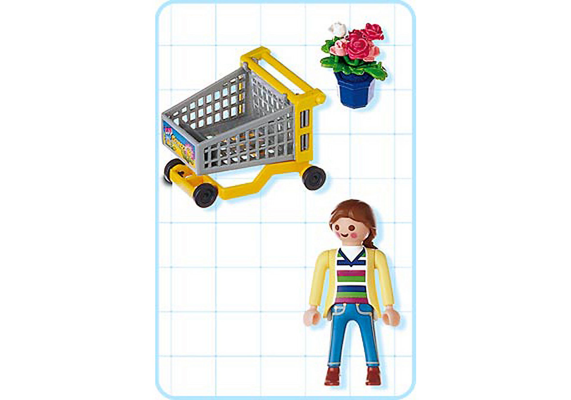 4638-A Cliente / chariot / fleurs zoom image2