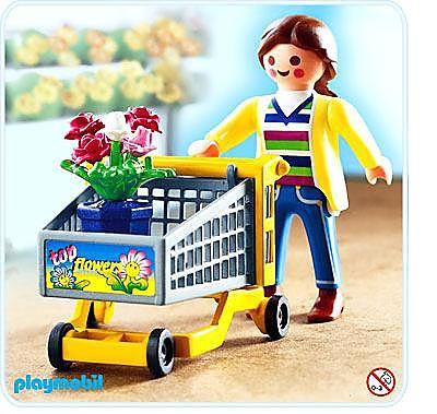 4638-A Cliente / chariot / fleurs detail image 1