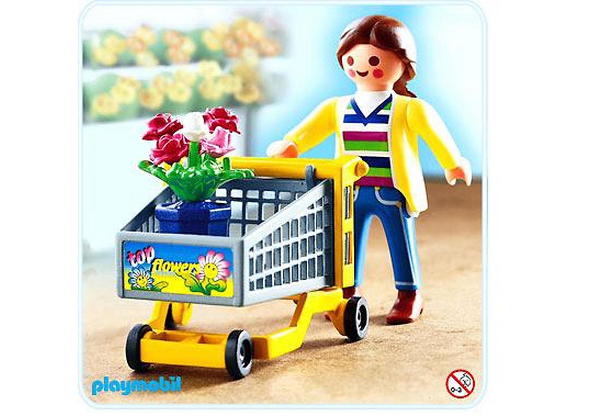 4638-A Cliente / chariot / fleurs zoom image1