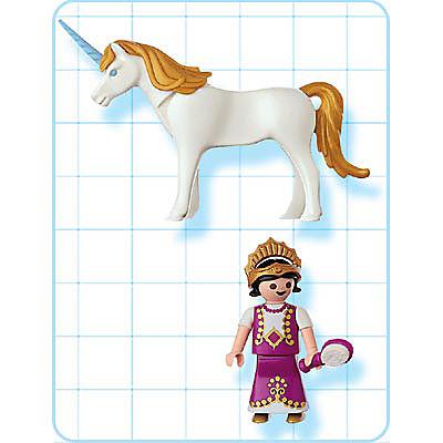 4645-A Einhorn mit Prinzessin detail image 2