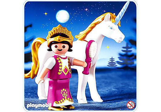4645-A Einhorn mit Prinzessin detail image 1
