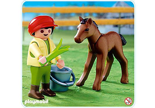 4647-A Junge mit Fohlen detail image 1
