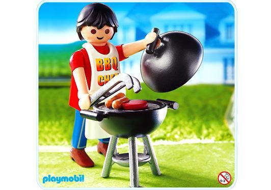 papa mit grill 4649 a playmobil