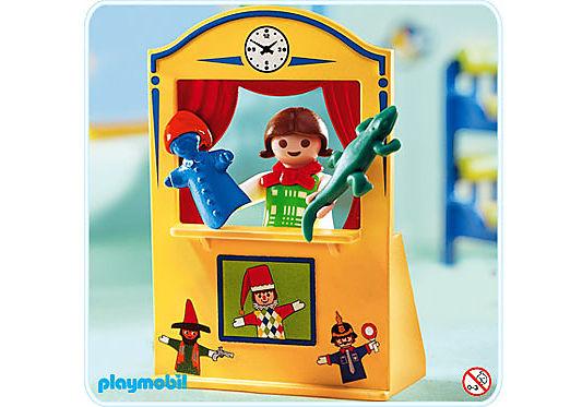 4664-A Enfant / théâtre de marionnettes detail image 1
