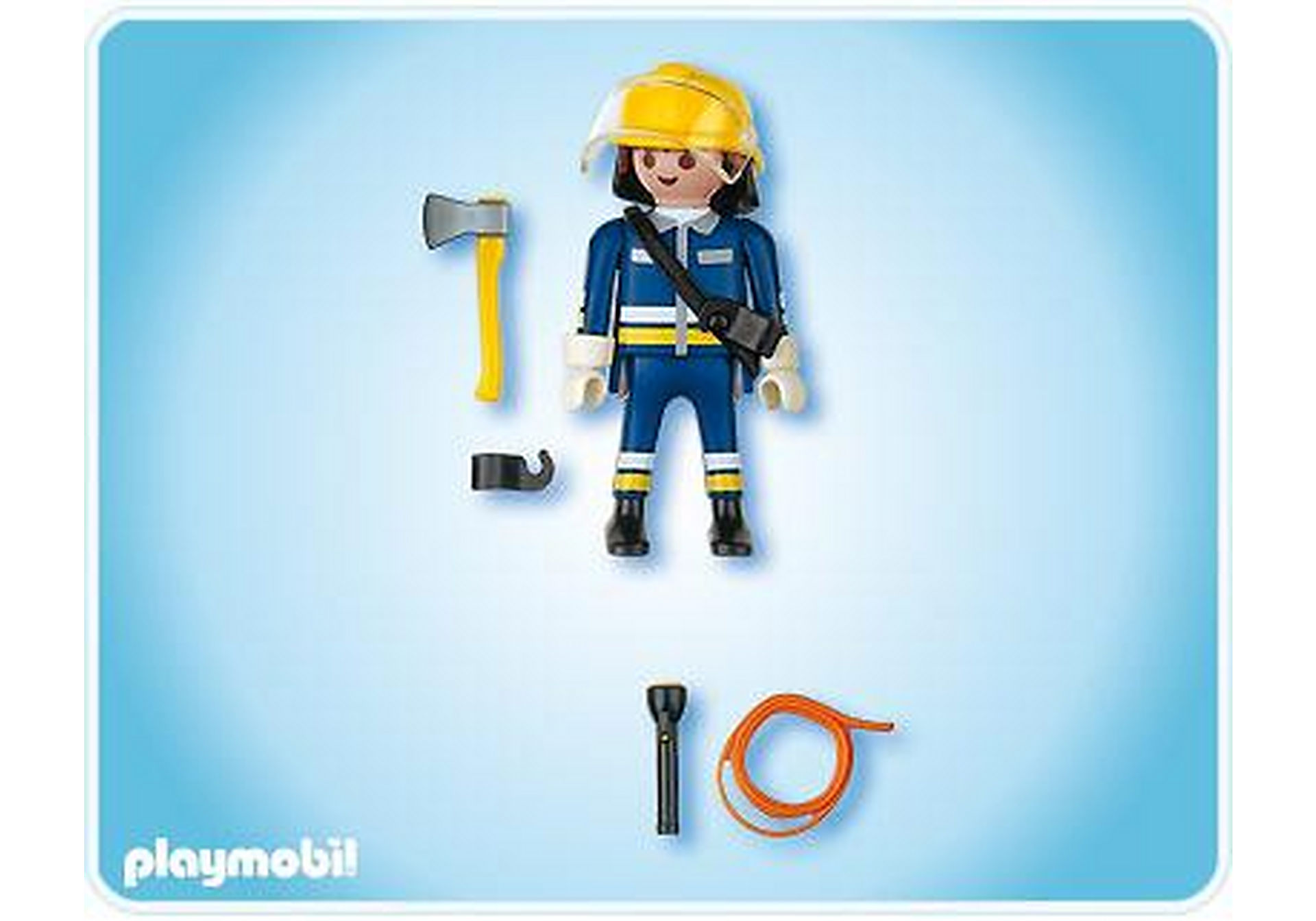 4675-A Pompier avec hache zoom image2