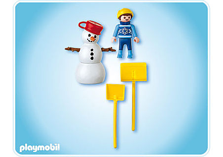 4680-A Enfant et bonhomme de neige detail image 2