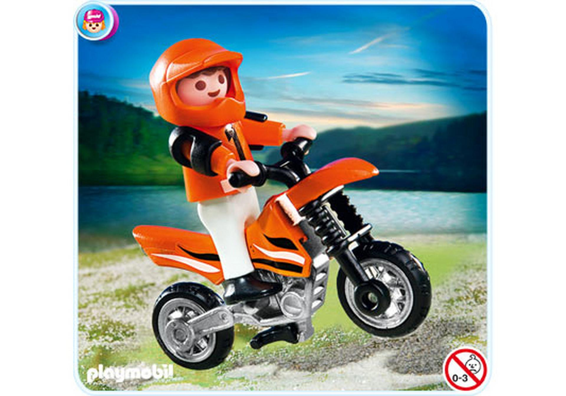 enfant et motocross 4698 a playmobil france. Black Bedroom Furniture Sets. Home Design Ideas