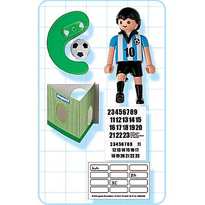 4705-A Fußballspieler Argentinien detail image 2