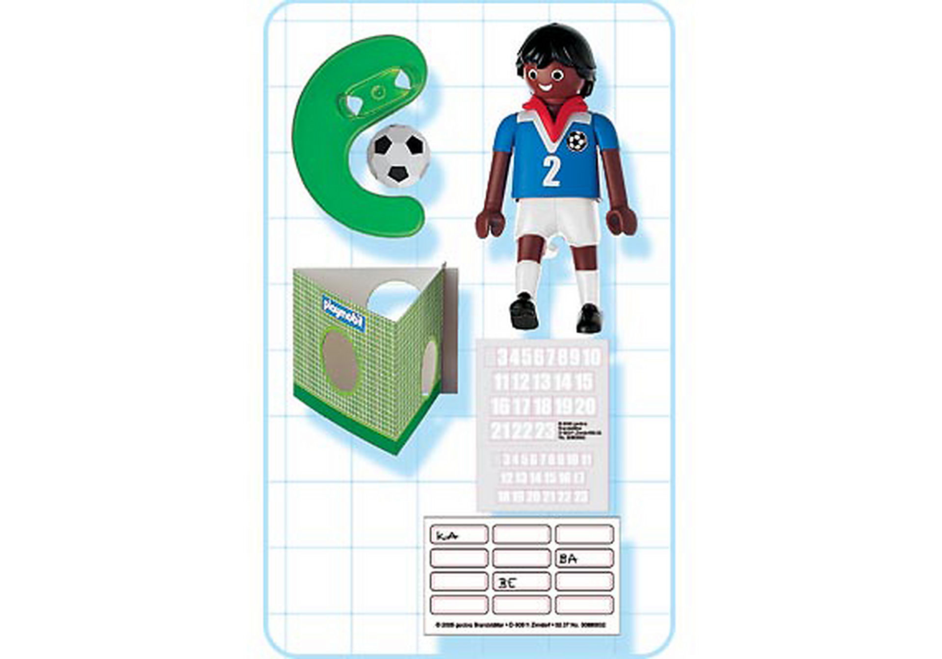 4711-A Fußballspieler Frankreich (farbig) zoom image2