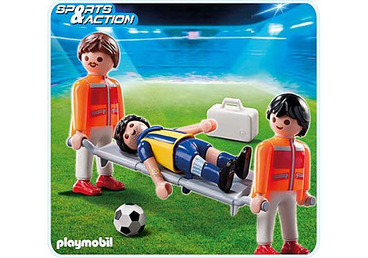 4727-A Sanitäter mit Verletztem detail image 1