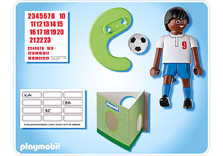 4736-A Fußballspieler England dunkelhäutig detail image 2