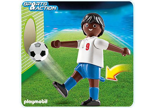 4736-A Fußballspieler England dunkelhäutig detail image 1