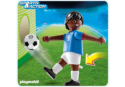 4737-A Fußballspieler Frankreich dunkelhäutig detail image 1