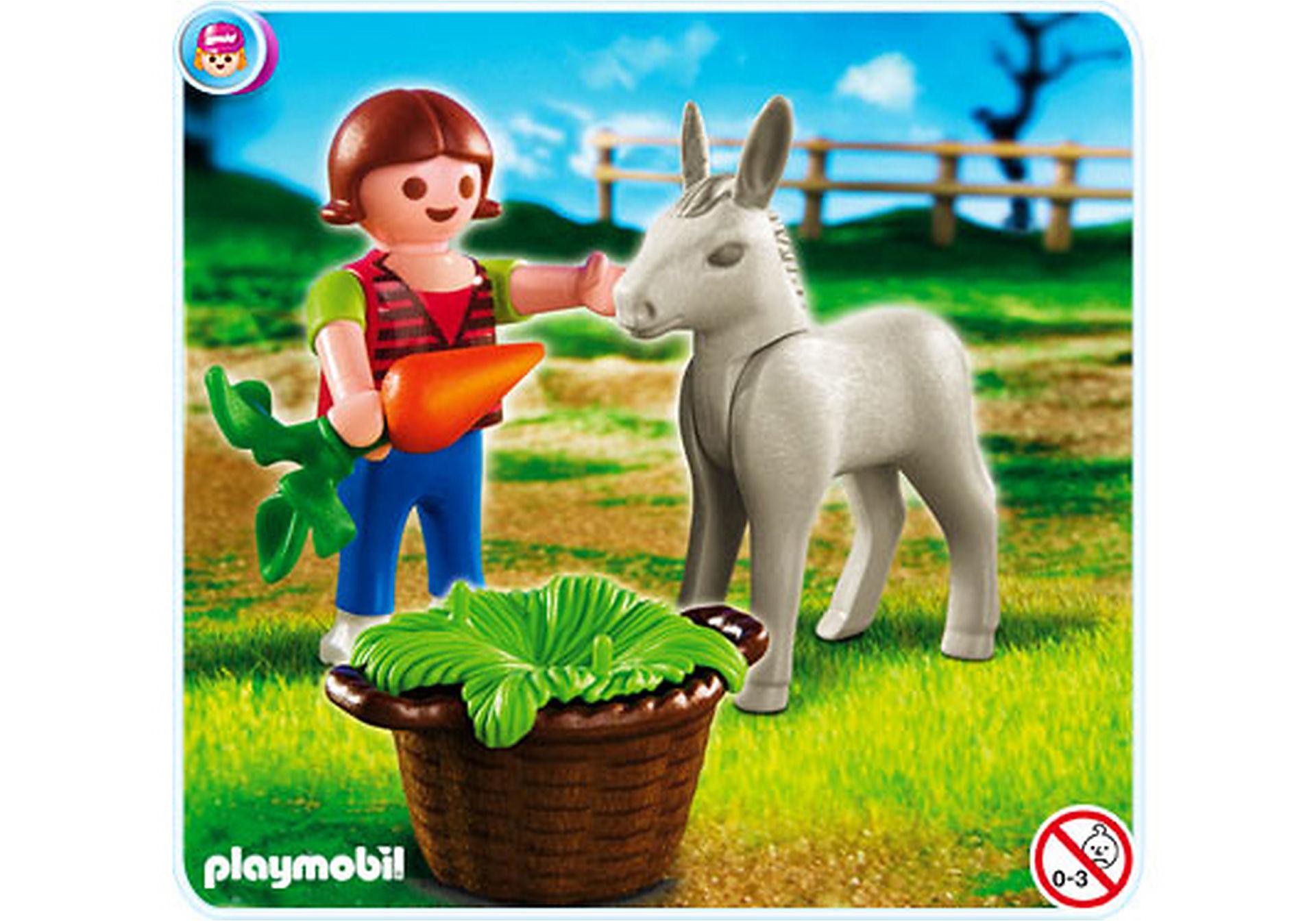 4740-A Kind mit Eselfohlen zoom image1