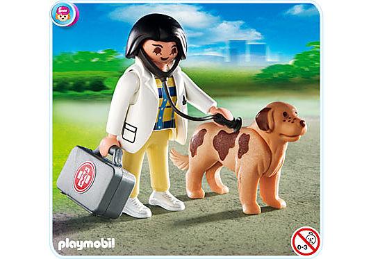 4750-A Tierärztin mit Hund detail image 1