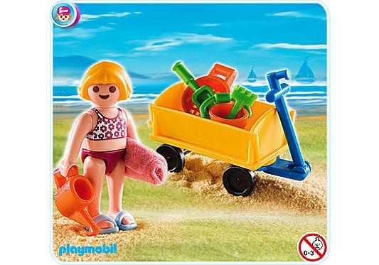4755-A Mädchen mit Bollerwagen detail image 1