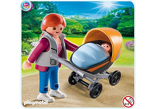 4756-A Mama mit Kinderwagen detail image 1