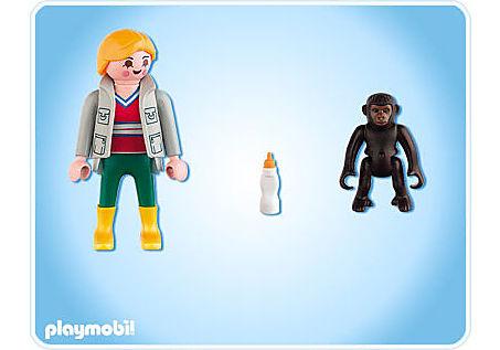 4757-A Tierpflegerin mit Gorilla-Baby detail image 2