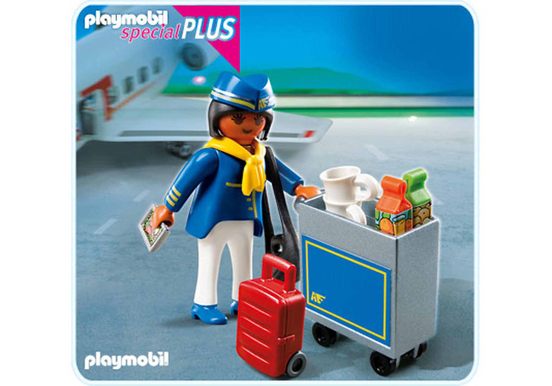 4761-A Flugbegleiterin mit Servicewagen zoom image1