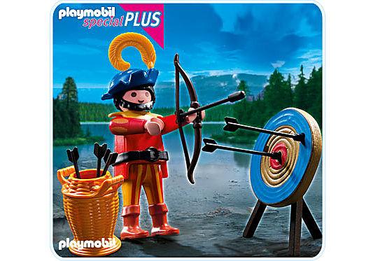 4762-A Bogenschütze mit Zielscheibe detail image 1