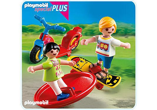 4764-A 2 Kinder mit Spielgeräten detail image 1