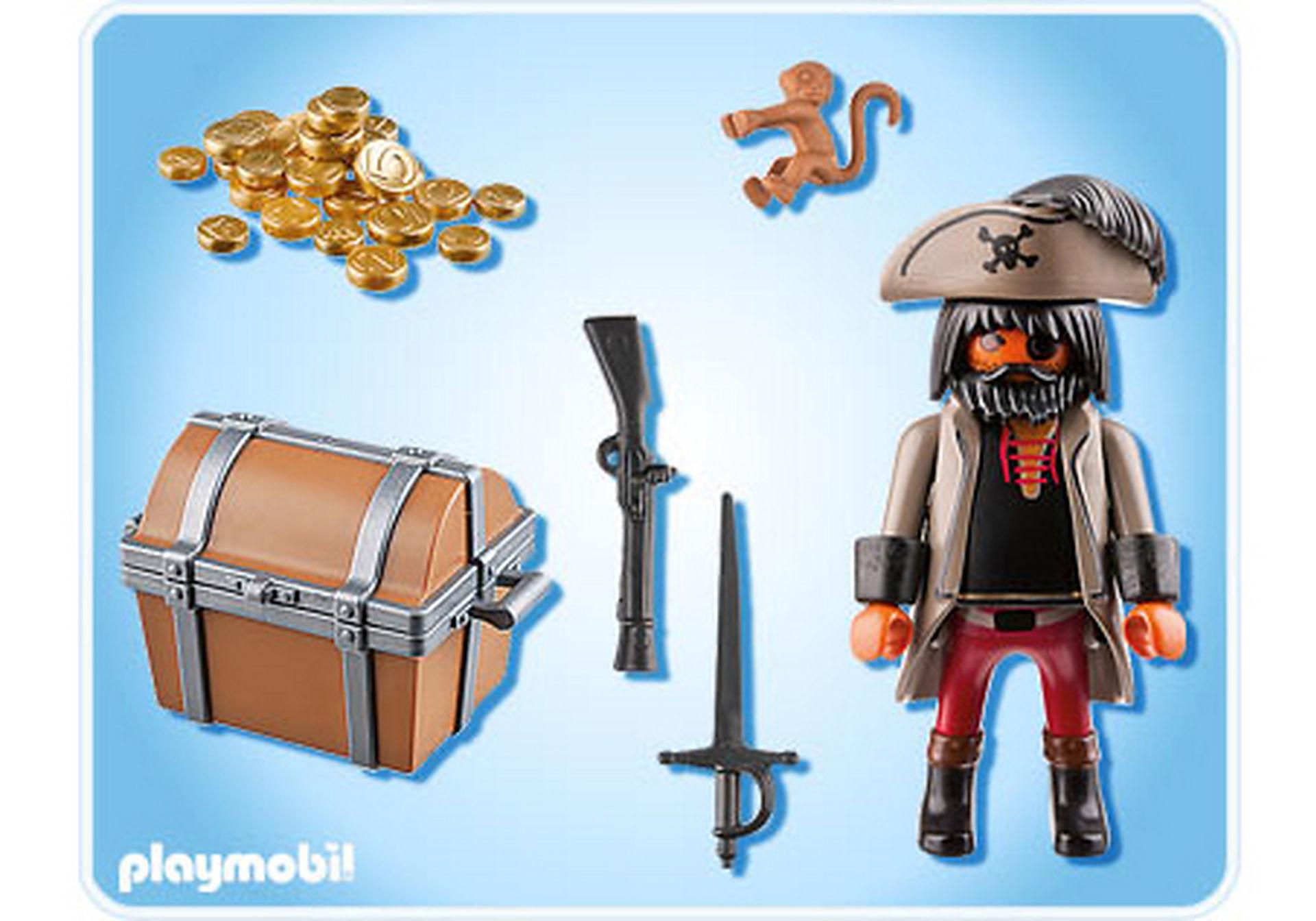 4767-A Finsterer Pirat mit Schatztruhe zoom image2
