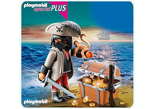 4767-A Finsterer Pirat mit Schatztruhe detail image 1