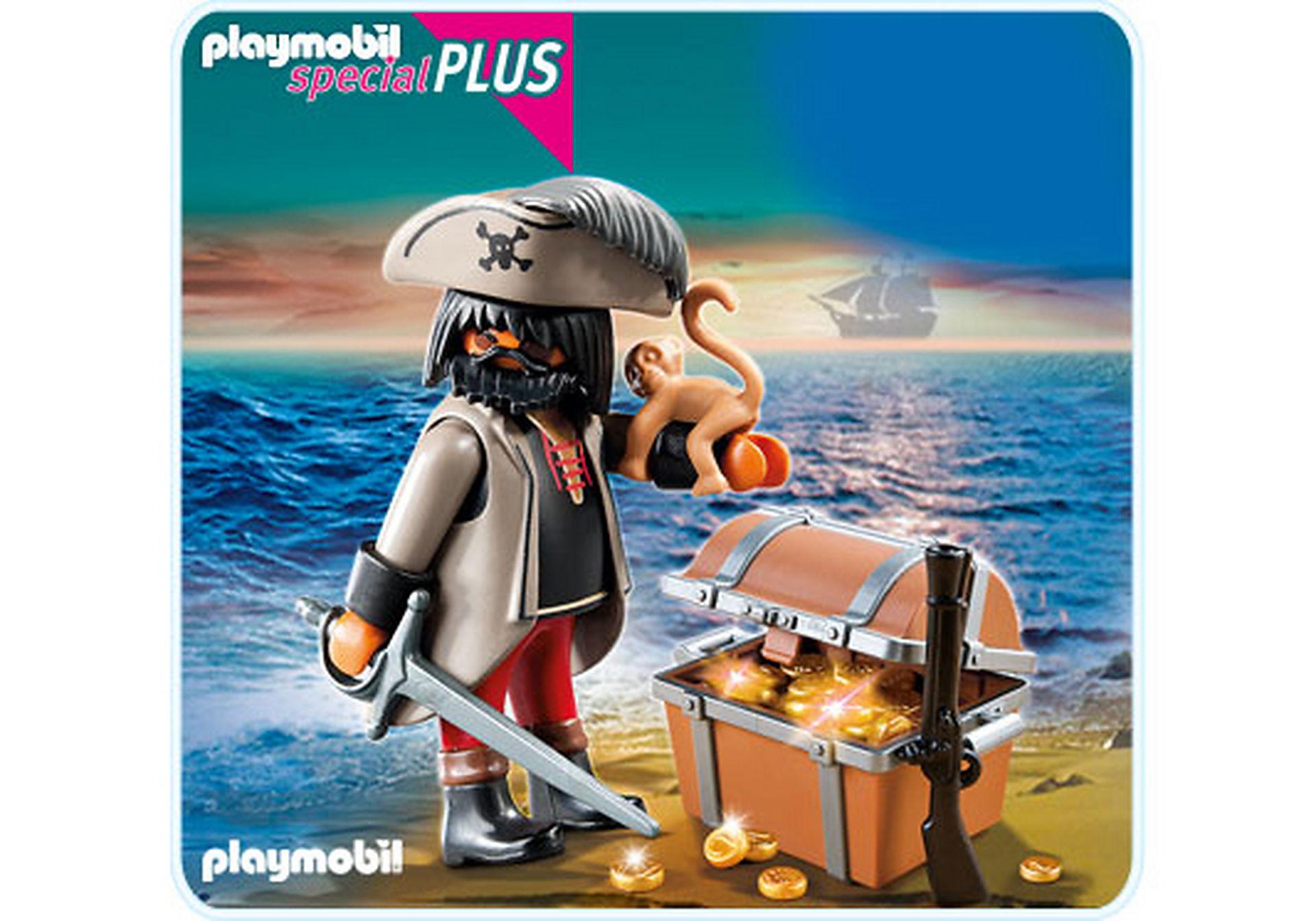 4767-A Finsterer Pirat mit Schatztruhe zoom image1