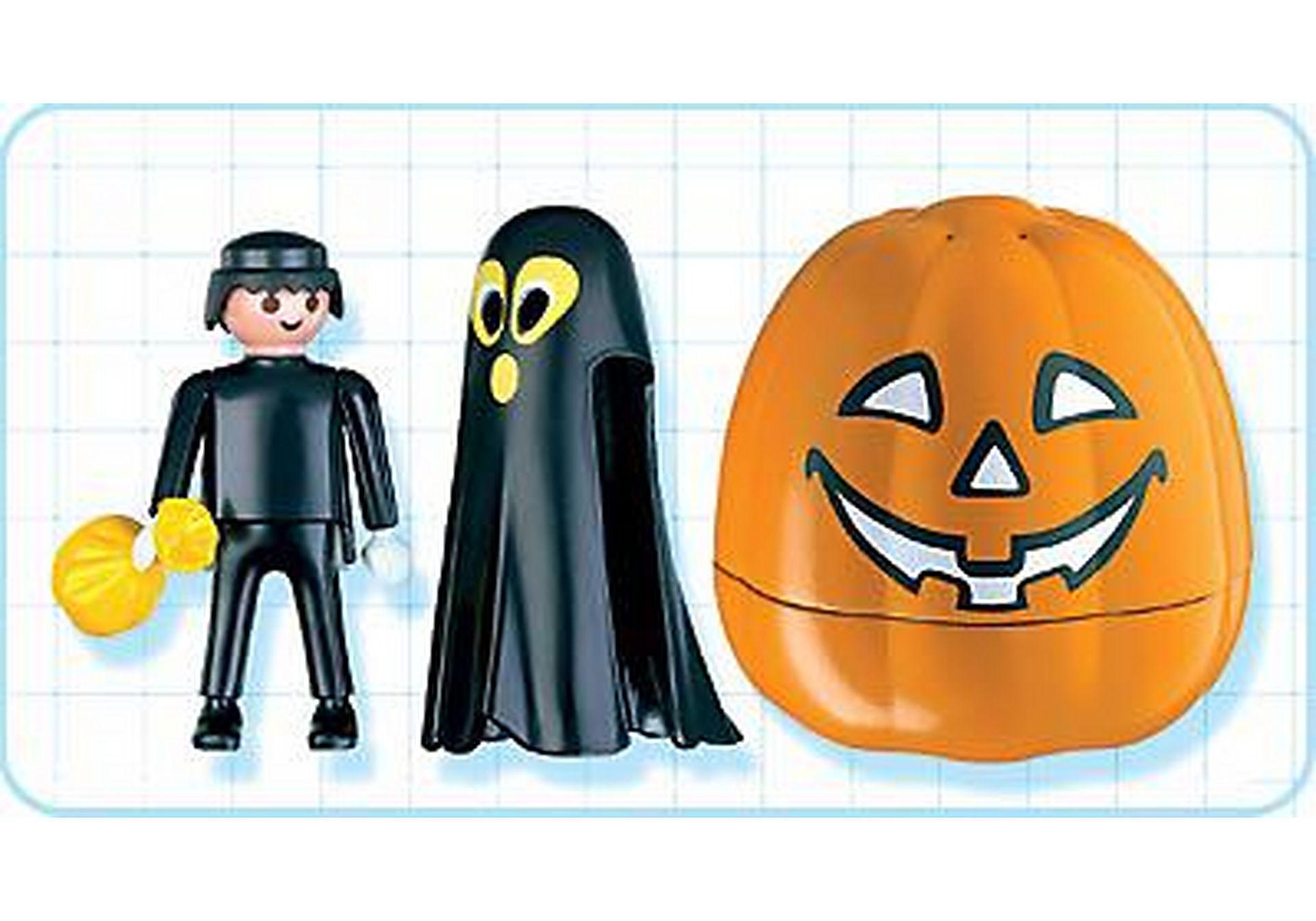 4771-A Citrouille halloween avec fantôme noir zoom image2