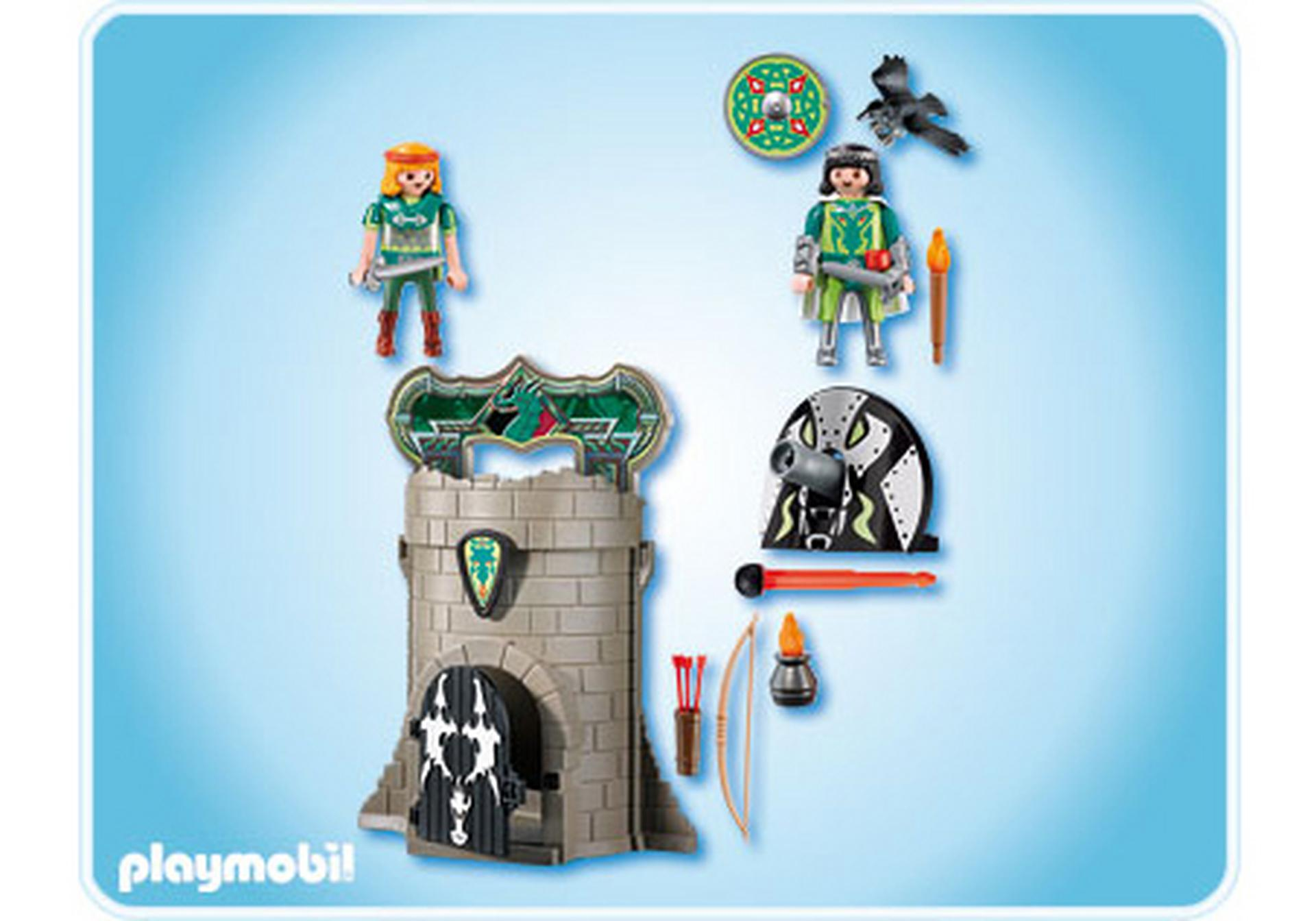 Tour des chevaliers des dragons verts 4775 a playmobil - Chateau chevalier playmobil ...