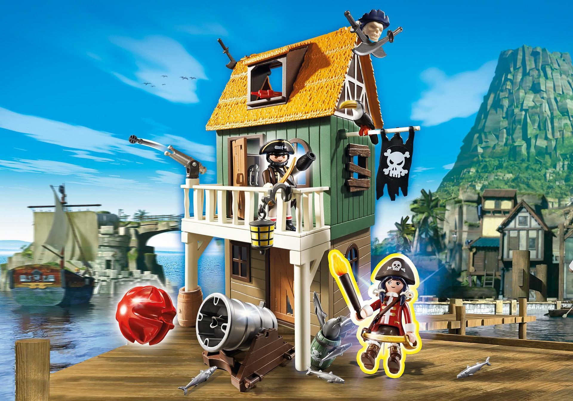 getarnte piratenfestung mit ruby  4796  playmobil