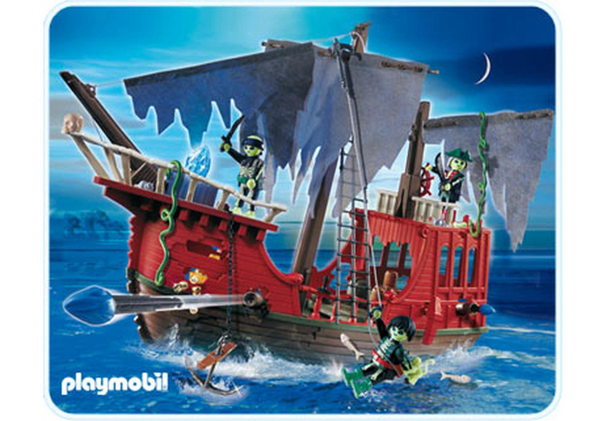 Bateau des pirates fant mes 4806 a playmobil france - Playmobil pirate fantome ...