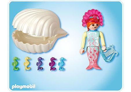 4813-A Sirène avec bébés hippocampes detail image 2