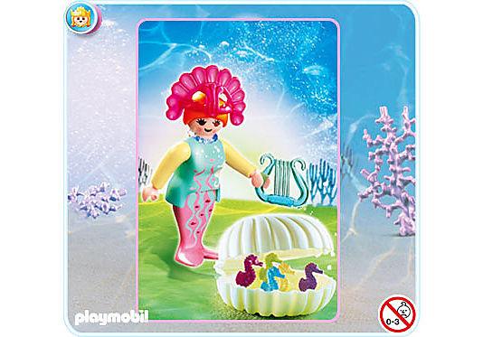 4813-A Sirène avec bébés hippocampes detail image 1