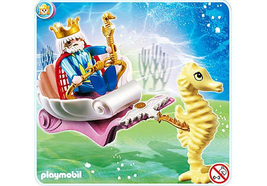 4815-A Meereskönig mit Seepferdchenkutsche detail image 1