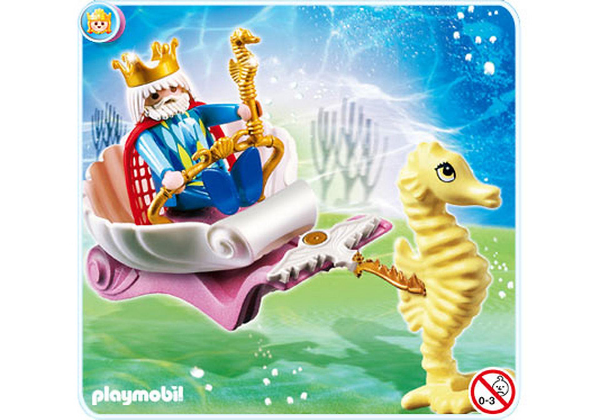 4815-A Meereskönig mit Seepferdchenkutsche zoom image1