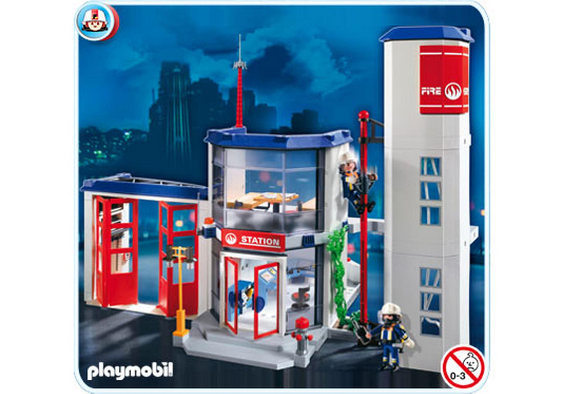 caserne de pompiers 4819 a playmobil france. Black Bedroom Furniture Sets. Home Design Ideas