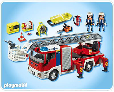 4820-A Camion de pompiers grande échelle detail image 2