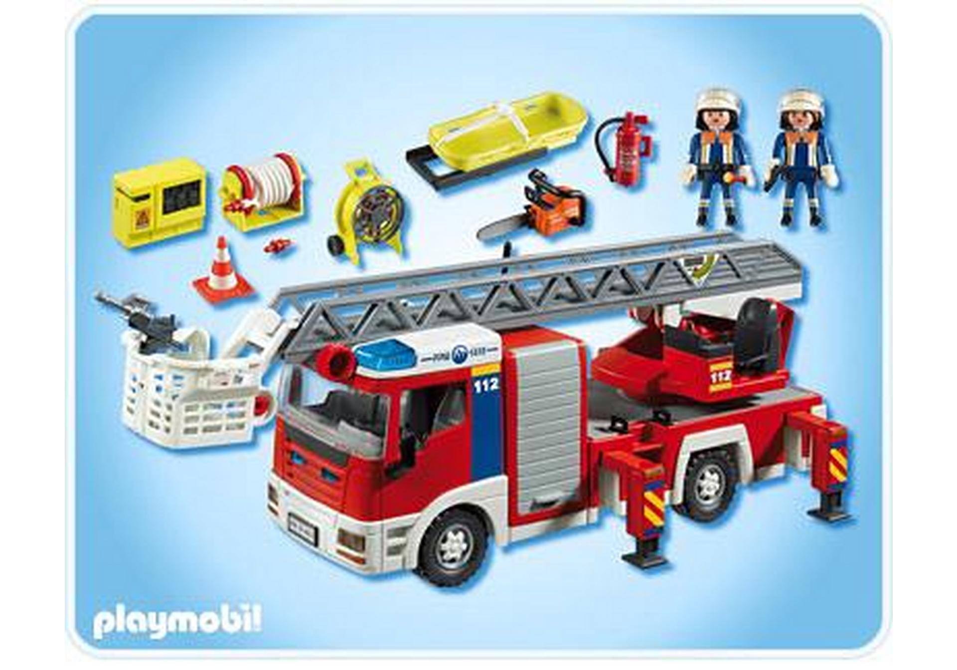 Camion de pompiers grande chelle 4820 a playmobil france - Playmobil de pompier ...