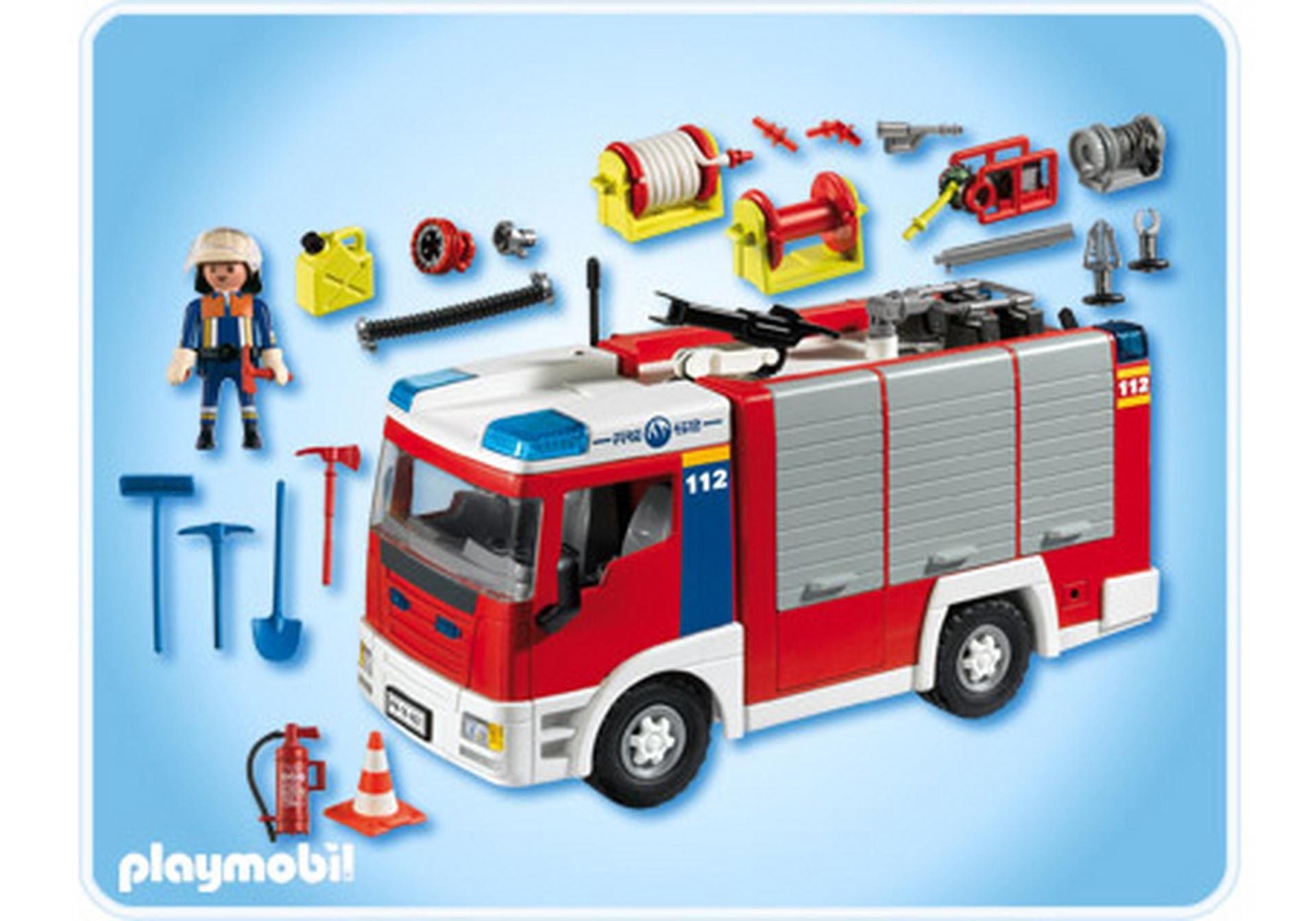 Fourgon d intervention de pompier 4821 a playmobil france - Playmobil pompiers ...