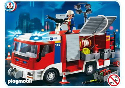 fourgon d intervention de pompier 4821 a playmobil france. Black Bedroom Furniture Sets. Home Design Ideas