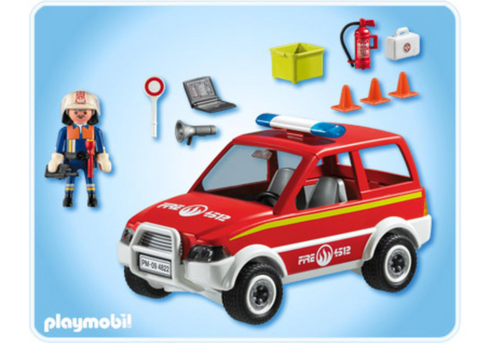 voiture de pompier 4822 a playmobil france. Black Bedroom Furniture Sets. Home Design Ideas