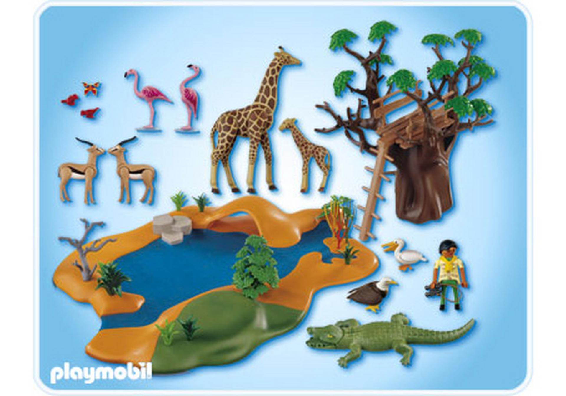 Poste d 39 observation et animaux de la savane 4827 a playmobil france - Playmobile savane ...