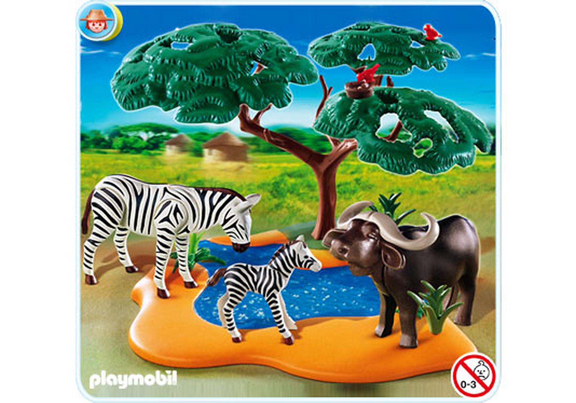 4828-A Kaffernbüffel mit Zebras zoom image1