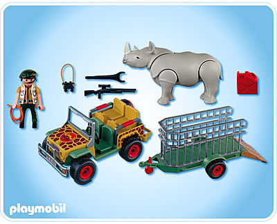 4832-A Rangerfahrzeug mit Nashorn detail image 2