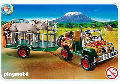 4832-A Véhicule de safari avec rhinocéros detail image 1