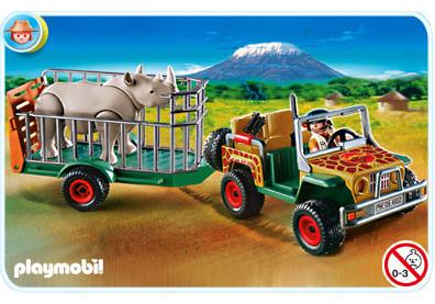 Véhicule de safari avec rhinocéros   4832 a   playmobil® france