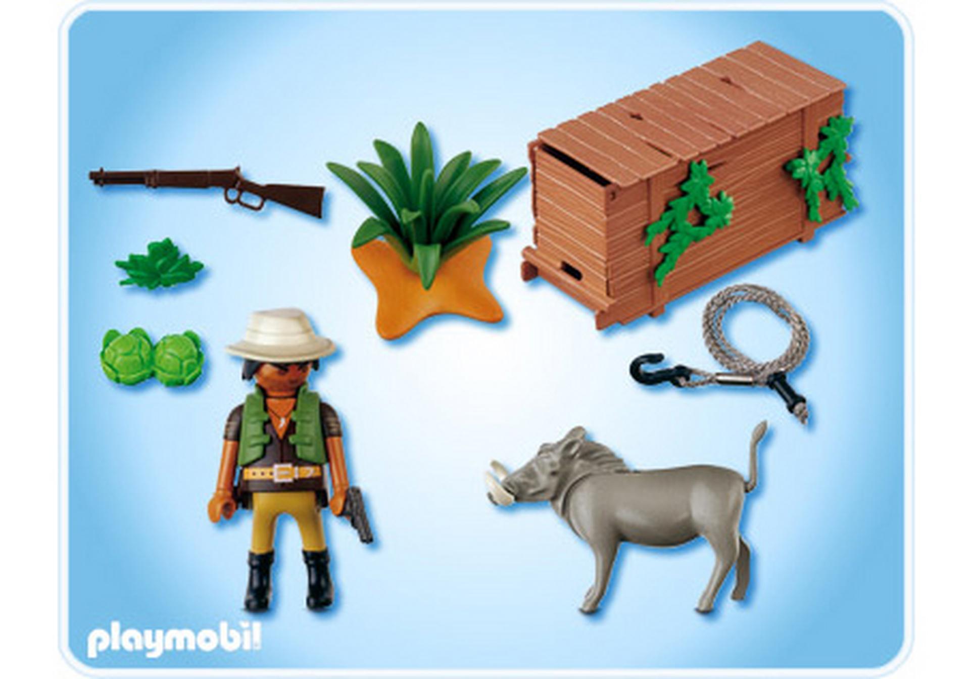 Chasseur avec pi ge 4833 a playmobil france - Playmobile savane ...